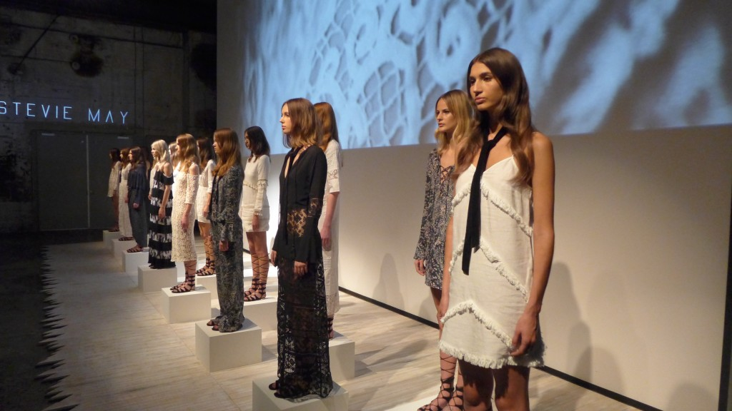 Stevie May Runway Installation MBFW 2015