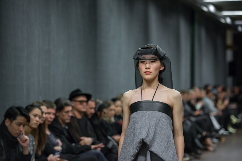 Yumi walking the catwalk at the Lui Hon Runway 2015 in Melbourne.
