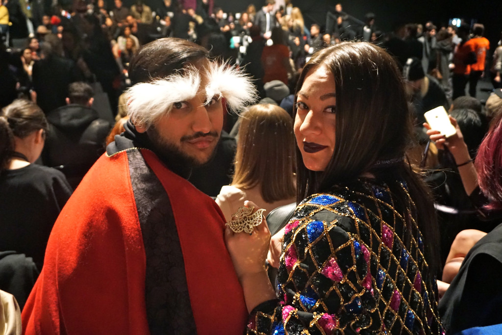 Bloggers: The Prep Guy and The Lady Like Leopard sitting at the House of Mackage show in Canada