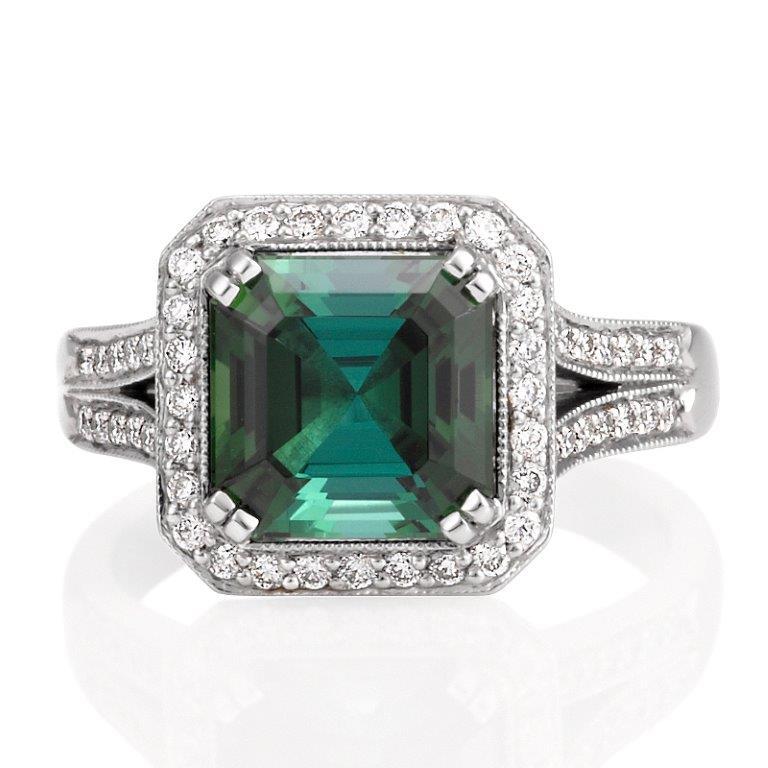 asscher-cut-tourmaline-and-diamond-cluster-ring-top