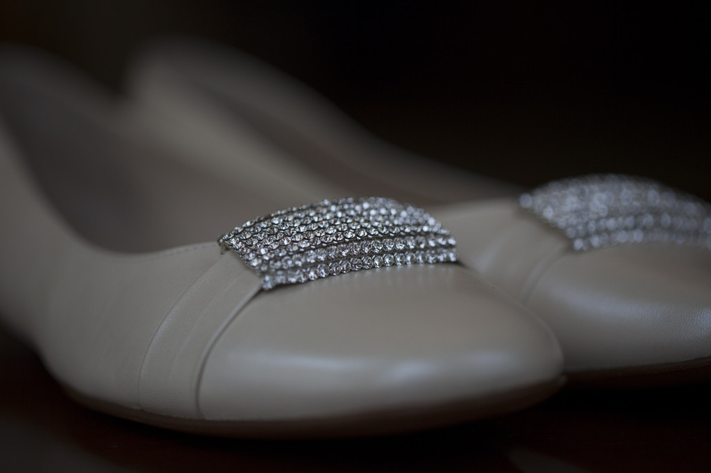 Antonia Barbato's ballet flat with diamante detail.