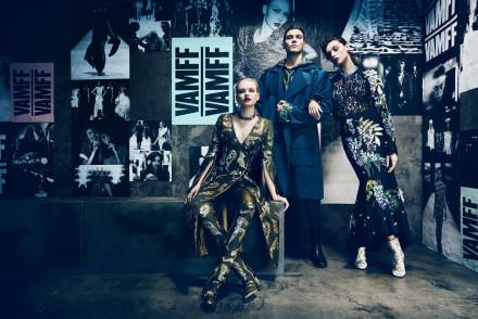 Models promoting the Virgin Australia Melbourne Fashion Festival 2016.