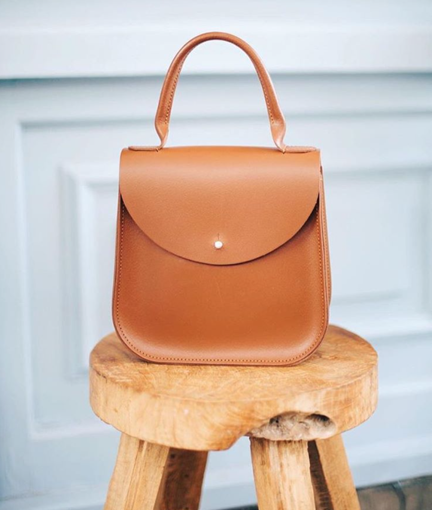 """The Chestnut Bloomsbury"" handbag by British designer Charlotte Elizabeth."