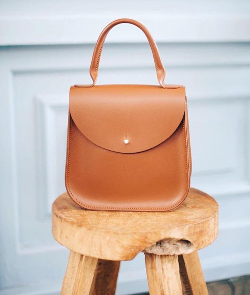 The Chestnut Bloomsbury Handbag By British Designer Charlotte Elizabeth