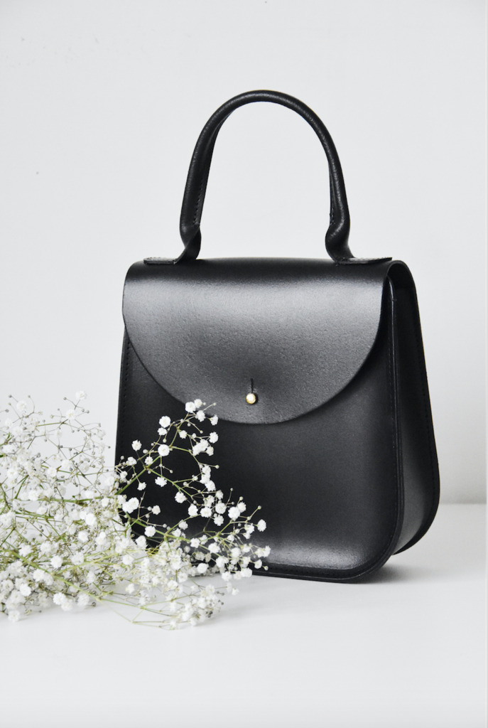 """The Black Bloomsbury"" handbag by British designer Charlotte Elizabeth."
