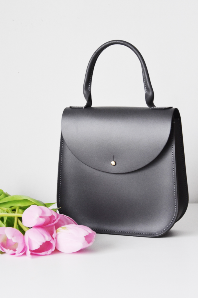 """The Grey Bloomsbury"" handbag by British designer Charlotte Elizabeth."
