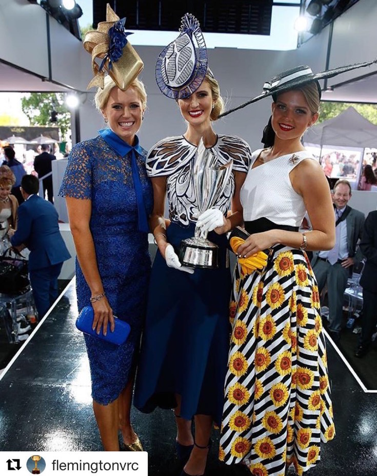 Crown Oaks Day | Left | Alice Bright | 3rd | Middle | Courtney Moore | Winner | Right | Gracyn Marsterson 2nd |