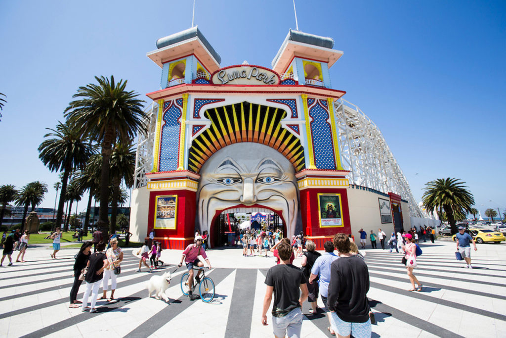 Picture of Luna Park in Melbourne, Victoria. One of the runway venues for this years Virgin Australia's Melbourne Fashion Festival.